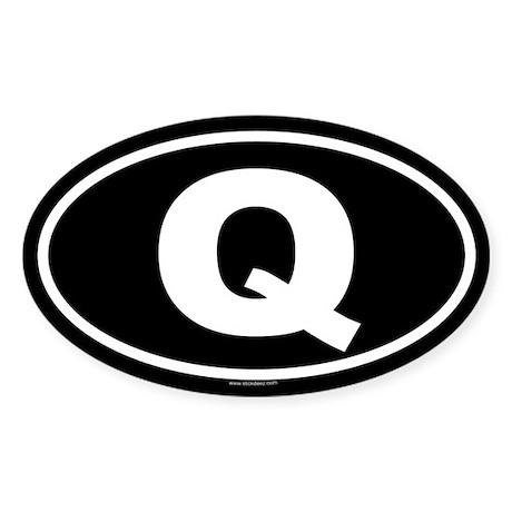 Q Oval Sticker