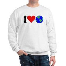 I Love Earth (design) Sweatshirt