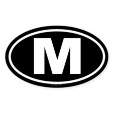 M Oval Decal
