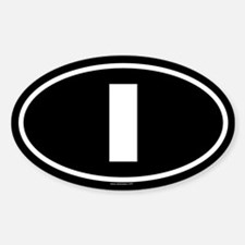 I Oval Decal