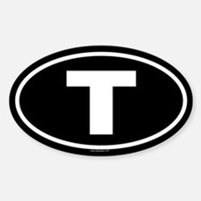 T Oval Decal