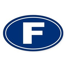 F Oval Decal
