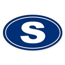 S Oval Decal