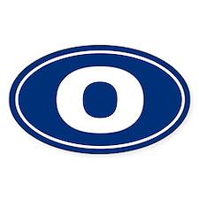 O Oval Decal