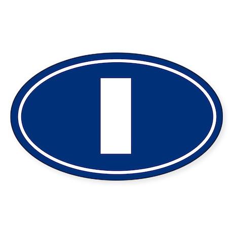 I Oval Sticker