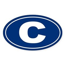 C Oval Decal