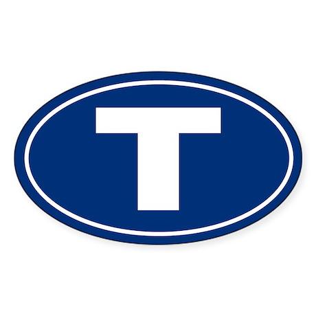 T Oval Sticker