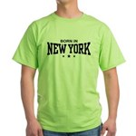 Born In New York Green T-Shirt