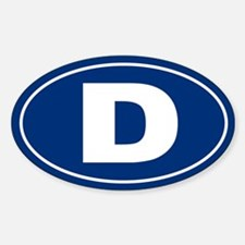 D Oval Decal