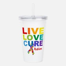 Live Love Cure AUT Acrylic Double-wall Tumbler