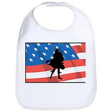 Bagpiper In America Bib