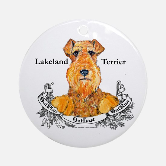 Lakeland Terrier Dog Banner Ornament (Round)
