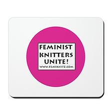 Feminist Knitters Unite Mousepad