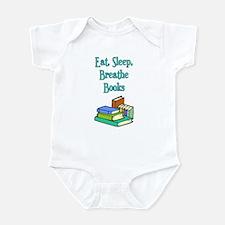 Eat Sleep Breathe Books Infant Bodysuit