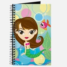Brown Haired Mermaid Journal
