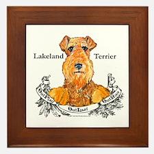 Lakeland Terrier Dog Banner Framed Tile