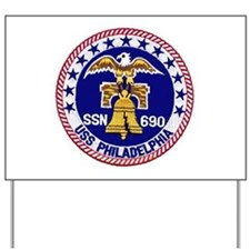 USS Philadelphia SSN 690 Yard Sign
