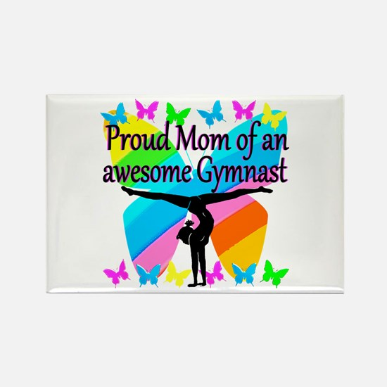 GYMNAST MOM Rectangle Magnet