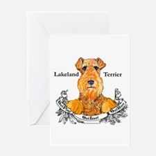 Lakeland Terrier Dog Banner Greeting Card