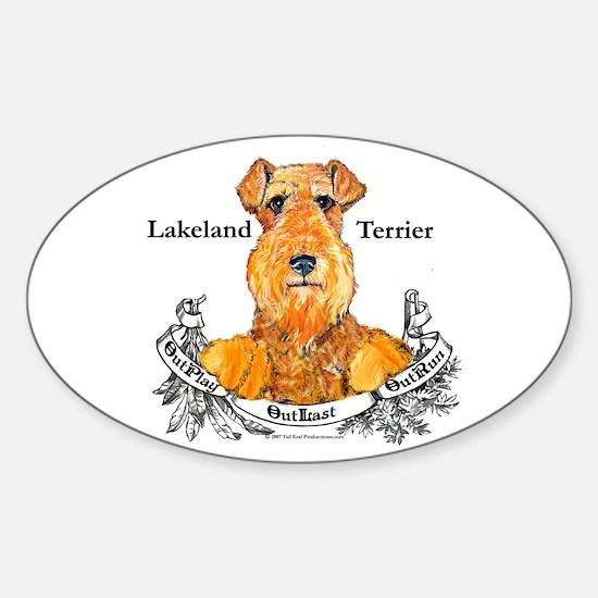 Lakeland Terrier Dog Banner Oval Decal