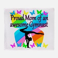 GYMNAST MOM Throw Blanket