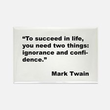 Mark Twain Quote on Success Rectangle Magnet