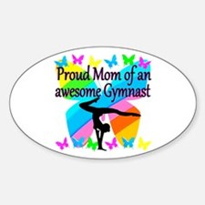 GYMNAST MOM Sticker (Oval)