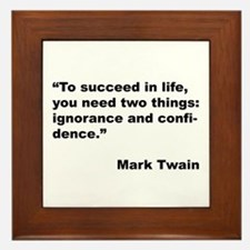 Mark Twain Quote on Success Framed Tile