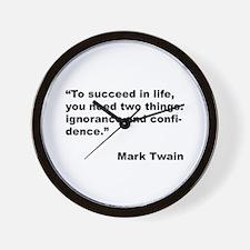 Mark Twain Quote on Success Wall Clock