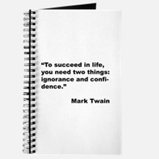Mark Twain Quote on Success Journal