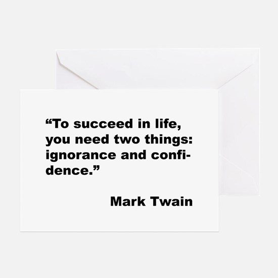 Mark Twain Quote on Success Greeting Card