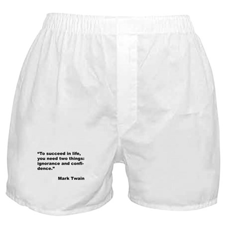 Mark Twain Quote on Success Boxer Shorts