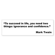 Mark Twain Quote on Success Bumper Bumper Sticker