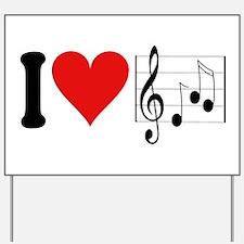 I Love Music (design) Yard Sign