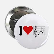 """I Love Music (design) 2.25"""" Button"""