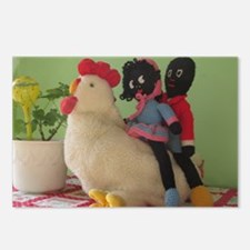 Gollies riding Chicken Postcards (Package of 8)