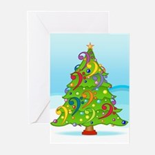 Bass Clef Christmas Greeting Cards