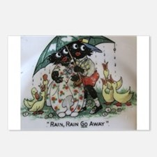 Gollies saying Rain Rain Go Away Postcards (Packag