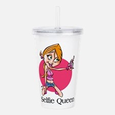 Selfie Queen Acrylic Double-Wall Tumbler