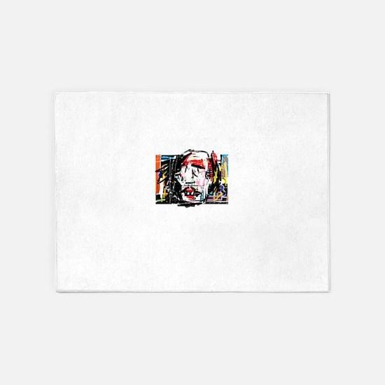 Picasso Cubist Clown 5'x7'Area Rug