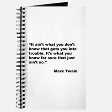 Mark Twain Quote on Trouble Journal