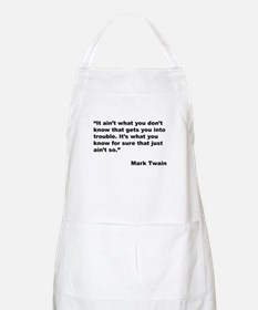 Mark Twain Quote on Trouble BBQ Apron