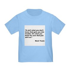 Mark Twain Quote on Trouble T