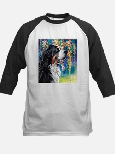 Bernese Mountain Dog Painting Baseball Jersey