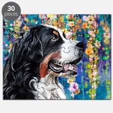 Bernese Mountain Dog Painting Puzzle