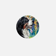 Bernese Mountain Dog Painting Mini Button