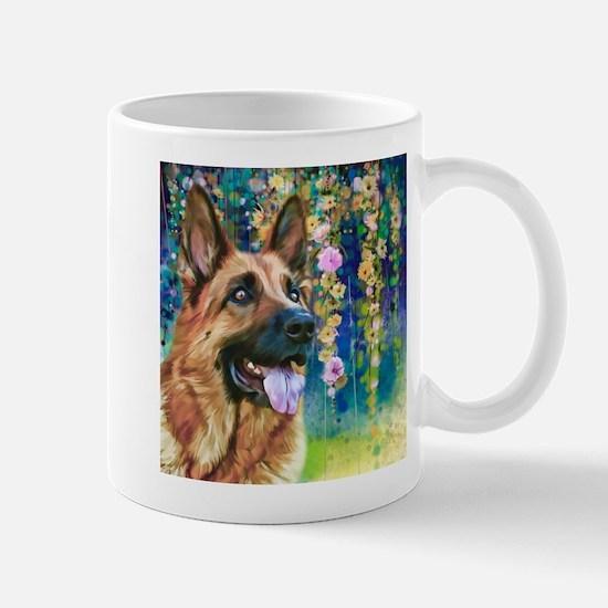 German Shepherd Painting Mug