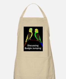 Budgies discussing Budgie Jumping Apron