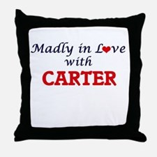 Madly in love with Carter Throw Pillow