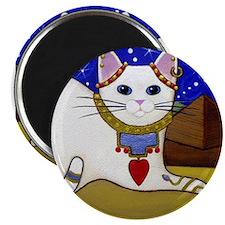 Beautiful White Egyptian CAT Magnet